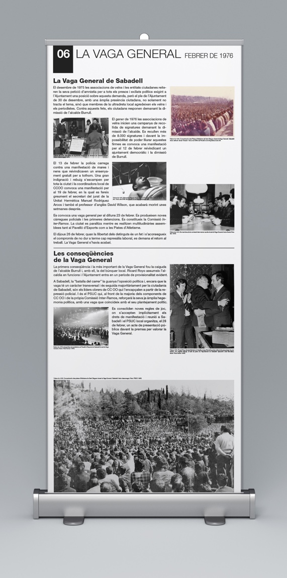 Disseny i maquetació Rollers de l'exposició Abril de 1979. 40 anys de les Eleccions Municipals