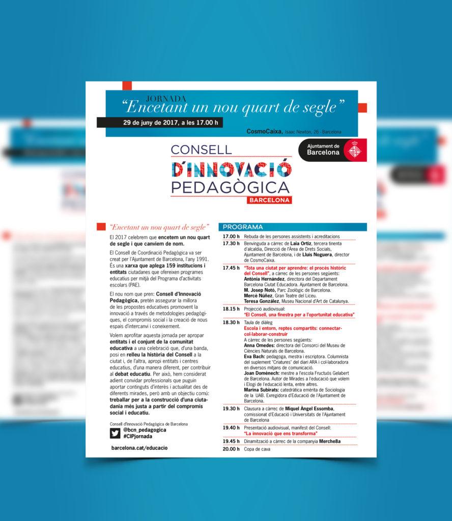 Disseny i maquetació opuscle Consell d'Innovació Pedagògica