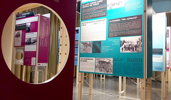 """Imatge gràfica i disseny de l'exposició """"Història del moviment veïnal de Sabadell"""""""