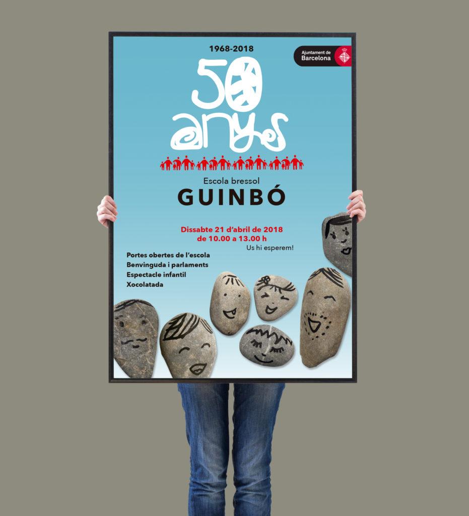 disseny cartell 50 anys Escola Bressol Guinbó
