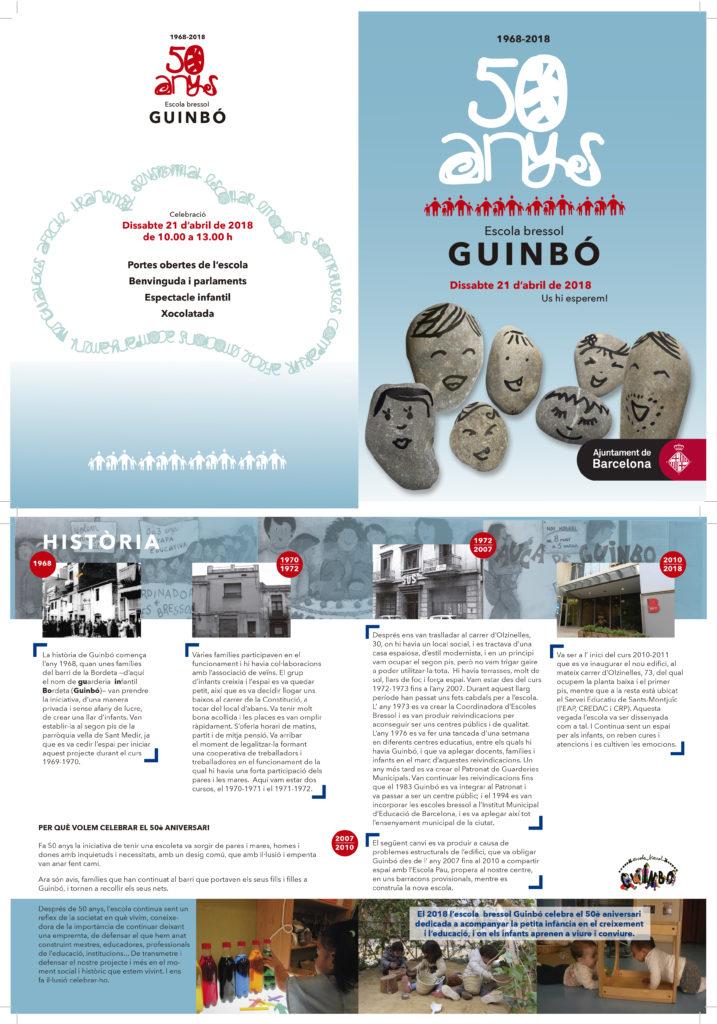 Disseny i maquetació de l'opuscle 50 anys de l'Escola Bressol Guinbó