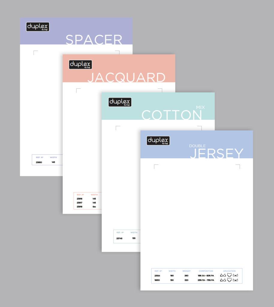 Disseny i maquetació del catàleg de producte de la marca Duplex
